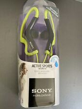 Sony MDR-AS200 Active Sports Movable Loop Hanger Headphones, Green