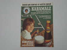 advertising Pubblicità 1974 BIRRA BEER KARAMALZ