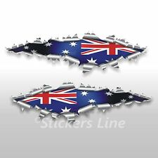 Adesivi bandiera AUSTRALIANA cm 22 australian flag bandiera australia stickers