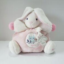 Kaloo Chubby Rabbit Bunny Plush Stuffed Animal White Pink Owls Lovey