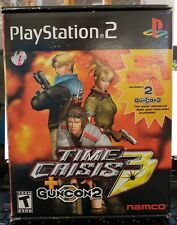 Time Crisis 3 Bundle with 2 Guncon2 (Sony PlayStation 2, 2003) PS2 - 2 guns