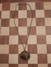 More details for vintage 1991 caesars palace las vegas 25th anniversary souvenir medallion chain