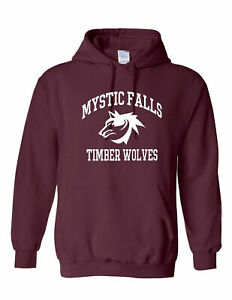 The Vampire Diaries inspired Burgundy Hoodies - Mystic Falls Salvatore 17