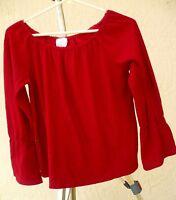 VTG 80S M S SOLID RED RENAISSANCE LOK COSTUME BELL SLEEVE FESTIVAL BLOUSE WOMEN