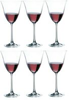 Rona Flora Set of 6 Red White Wine Stemmed Wine Glasses
