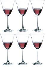 Rona Flora Set of 6 Red White Wine Stemmed Wine Glasses