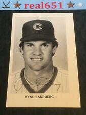 RYNE SANDBERG Vintage Team Photo | B&W Photograph | Script Auto | Cubs 1984-85