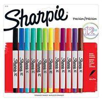 Sharpie 12-Pack Precision Permanent Marker Pens Ultra Fine Single or Full Set
