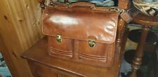 Pegasus Big Heritage  Brown Leather Briefcase Attach Executive Tote Bag