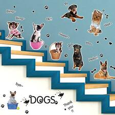 Multi Dogs Paw Print Wall Sticker Stairs Home Decor | Cute Puppy Pet Shop Decal