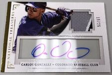 2014 14 CARLOS GONZALEZ NATIONAL TREASURES GAME PATCH JSY ROOKIE RC AUTO # / 25