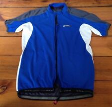 Italian De Marchi Italy Cobalt Blue Bike Cycling Zip Up Jersey Shirt M 36-38