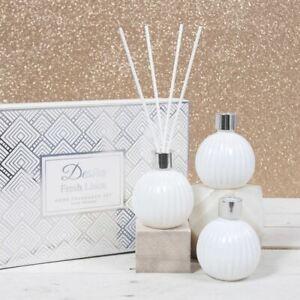 Desire Set of 3 Home Fragrance Fresh Linen Reed Diffuser Gift Set