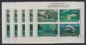 W464. 5x Samoa - MNH - Marine Life - Dolphins