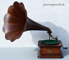 Trichter Grammophon Columbia Graphophone orig. exzellente Funktion Holztrichter