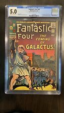 Fantastic Four 48 CGC 5.0 1st Silver Surfer Galactus Cameo Stan Lee Signed