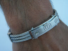 HIGH QUALITY HANDCUFF STAINLESS STEEL  CLASSIC DESIGN WRISTBAND S2