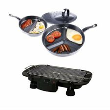 3 in 1 Premier Divide Wonder Tri-Pan with Electric BBQ Grill