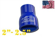 """Silicone Straight Reducer Joiner Hose 51mm - 64mm / 2"""" - 2.5"""" (4-ply) Blue"""