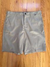 Hurley Nike Dri-Fit Khaki Pin Striped Shorts 32 NWOT