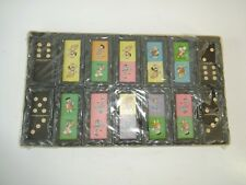 VTG Flintstones Fred Wilma Dino Pebbles BAMM Dominoes Hanna Barbera - SEALED SET
