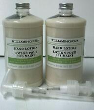 Williams Sonoma Set Of 2 Tuscan Cedarwood Hand Lotion 16oz + Pump