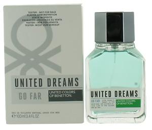 United Dreams Go Far by Benetton For Men EDT Cologne Spray 3.4oz Tester