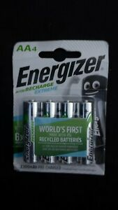 Energizer ACCU Recharge Extreme 2300 mAh Rechargable AA Battery x4 Pack