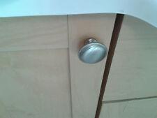 10  x 31mm round knob satin nickel effect