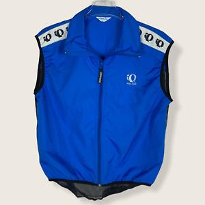 Pearl Izumi Hi-Vis Windbreaker Vest Jacket Blue Full Zip Cycling Mens Size L