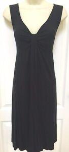 Ann Taylor Loft Maternity Size 6 Woman's Black Sleeveless Knit Casual Dress