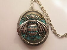STEAMPUNK PATINA HONEY BEE LOCKET