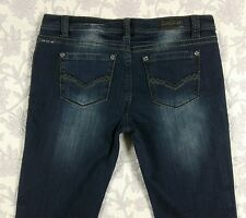 Buckle Rose Royce Randi Womans Size 32 15/16 Dark Blue Jeans Rose Adornments NWT