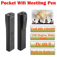 1080P T190 180 Degree Wide Angle Lens Mini Hdden Video Recorder Pen Camera