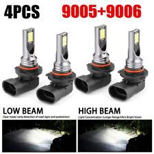 Combo LED Mini 9005+9006 Headlight Kit Bulb High Low Beam 240W 60000LM 6000K Kit