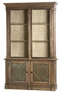 "93"" T Kitchen Cabinet Hand Crafted Hardwood Steel Doors Six Shelves Rustic"