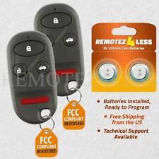 2 For 2002 2003 2004 Honda CR-V Remote Car Control Keyless Entry Key Alarm Fob