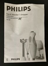PHILIPS HAND BLENDER CHOPPER Never Used COMPLETE HR1358