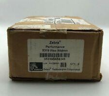 New Genuine 05319BK08345 Zebra 5319 Black Wax Thermal Ribbon Lot of 3 PG