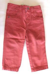 Monsoon Boys Red Denim Jeans 18-24 Months