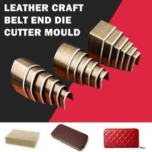 18 Stück Leder Craft End Stanzwerkzeug Mold Hole Punches Belt Wallet End Tools