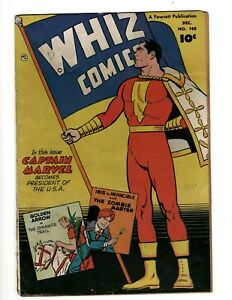 Whiz Comics # 140 VG Fawcett Golden Age Comic Book Captain Marvel Shazam NE4