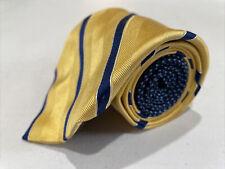 Tommy Hilfiger Men's Yellow Striped Silk Neck Tie $98