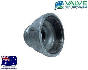 "Galvanised Malleable Reducing Socket - BSP - 15x10mm(1/2x3/8"") - 100x80mm(4x3"")"