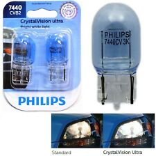Philips Crystal Vision Ultra Light 7440 25W Two Bulbs Front Turn Signal Replace