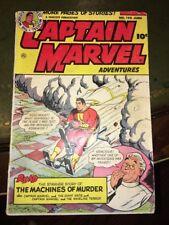 CAPTAIN MARVEL ADVENTURES #145 FAWCETT COMICS 1953 Movie Coming! H-Bomb Test
