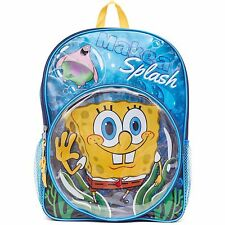Spongebob Patrick Make a Splash Backpack School Book Bag Tote 16 inch NEW