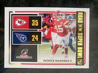 Patrick Mahomes 2020 Donruss Road to the Super Bowl Card; Kansas City Chiefs