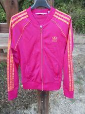 Veste ADIDAS rose orange girl femme Trefoil jacket giacca tracktop 42