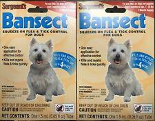 2 Pk Sergeant's Bansect Flea & Tick Control - Dog Treatment Medicine Up to 33lb
